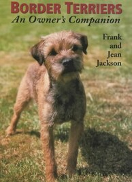 Border Terriers book front cover with photo of border terrier standing looking at the camera