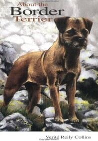 About the Border Terrier book front cover image with illustration of border terrier standing looking alert