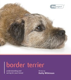 Dog Expert Border Terrier book front cover with head of border terrier lying down photo
