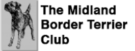 Midland Border Terrier Club logo with border terrier line drawing and black text